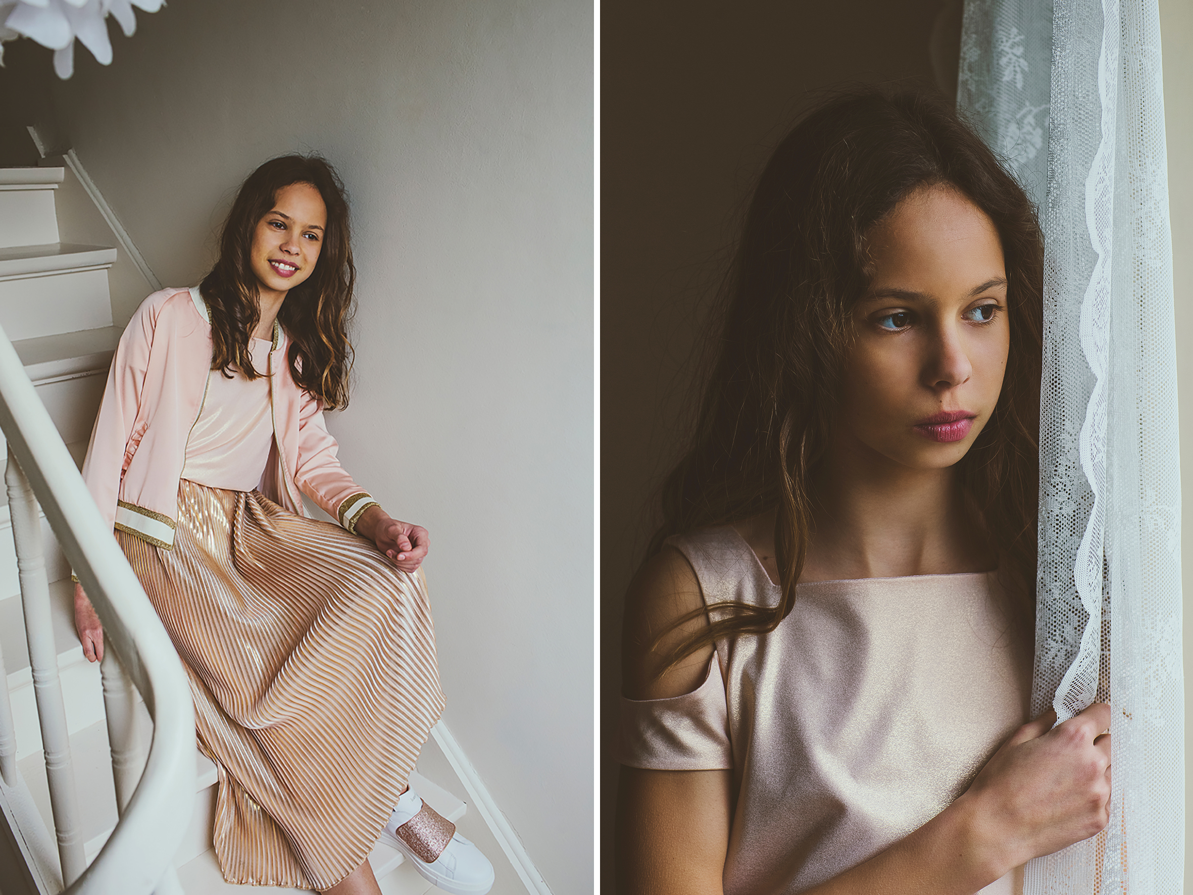 Bohemian girl fashion portret alternatieve fotografie kinderen communie